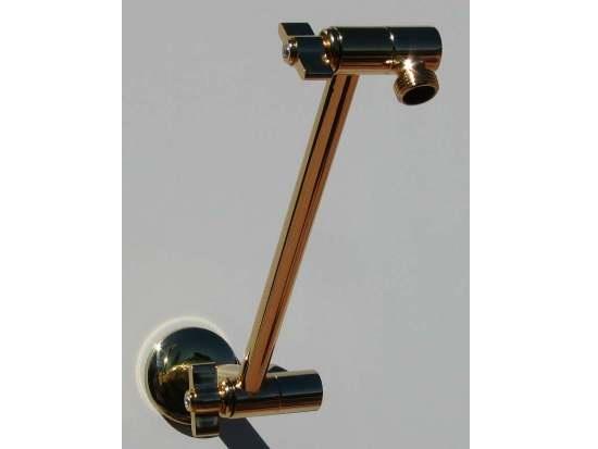 locking brass shower extension arms neatitems. Black Bedroom Furniture Sets. Home Design Ideas