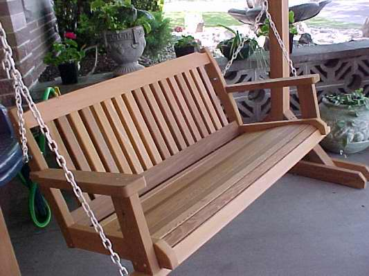 Cabbage hill cedar porch swings free shipping - Building a garden swing seat in easy steps ...