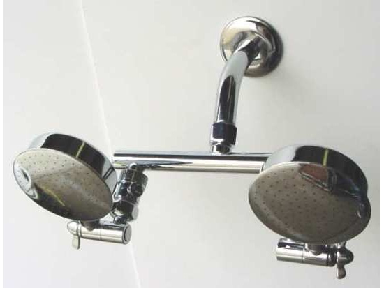 dual aussie down under shower heads high pressure showers