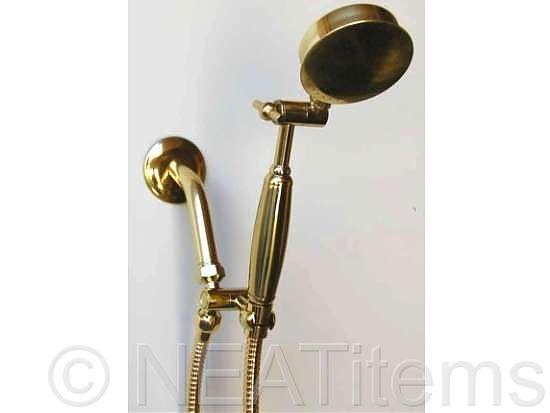 aussie brass handheld showerhead - Handheld Shower Head
